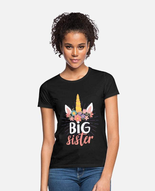 Jul T-shirts - Unicorn søster - T-shirt dame sort