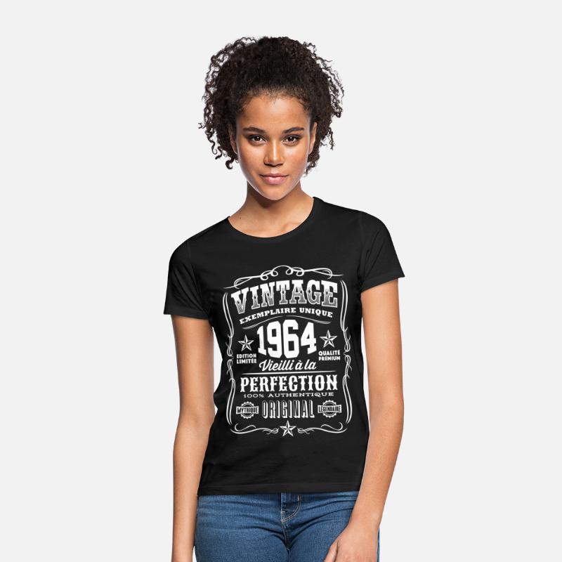 55th Anniversaire Cadeau Idée Pour Filles maman sa femme 1964 t shirt tee shirt