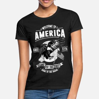 Usa WELCOME TO AMERICA #1 - Frauen T-Shirt