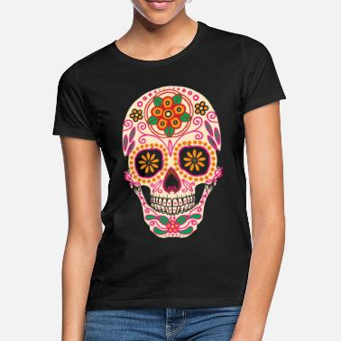 Colourful Sugarskull painting - Women's T-Shirt