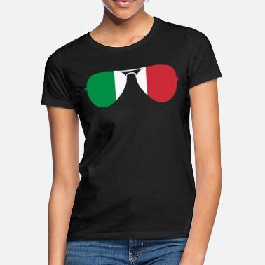 Italia lippu aurinkolasit - Naisten t-paita 1537f593d1