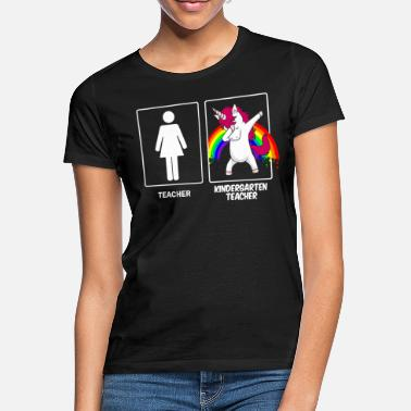 Förskola Teacher / Kindergarten Teacher Erzieherin Einhorn - T-shirt dam