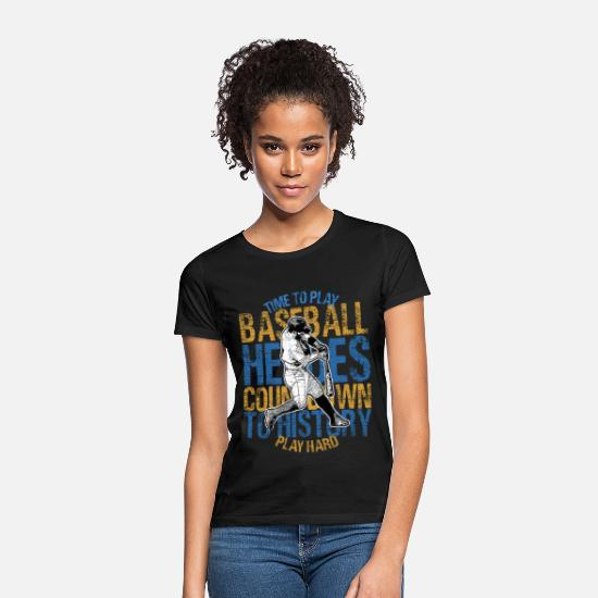 Birthday T-Shirts - Baseball homer Vintage Heroes - Women's T-Shirt black