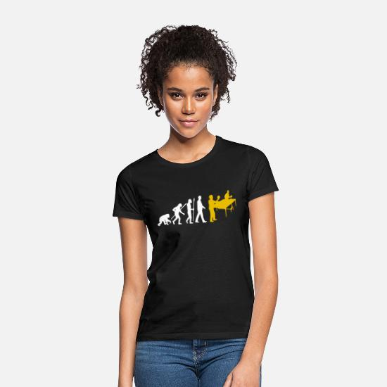Table Tennis T-Shirts - Evolution Table tennis table tennis - Women's T-Shirt black