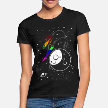 Love Gay Pride - Love to the Moon and Back - EN - Vrouwen T-shirt