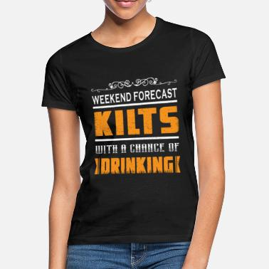 Rock Scottish Skirt Rock Scotland Drink alcohol - Vrouwen T-shirt