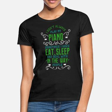 Piano Funny Piano Piano Pianist Wings Gift - Women's T-Shirt