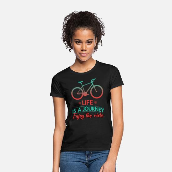 Bike Messenger T-Shirts - Biking Cycling Bike Cycling Bike - Women's T-Shirt black