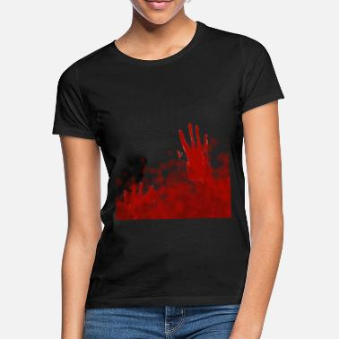Shirtact ShirtActs Bloodhand - Frauen T-Shirt
