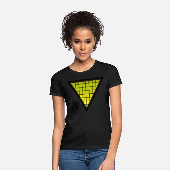 Green T-Shirts - GREEN TRIANGLE - Women's T-Shirt black