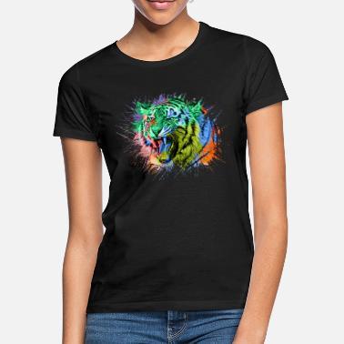 Rainbow Tiger Rainbow Colorful Animals - Women's T-Shirt