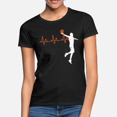 Basketball Heartbeat - Frauen T-Shirt