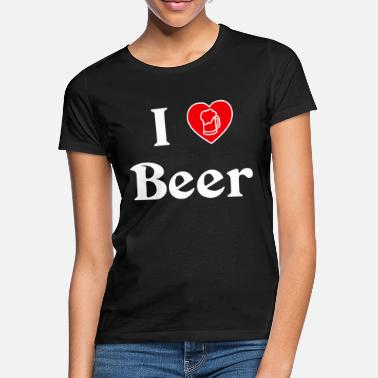 Hartz 4 I Love Beer Bier Herz 4 - Frauen T-Shirt
