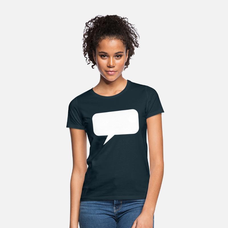 Taleboble hvit WhatsApp Messenger mal T skjorte for kvinner