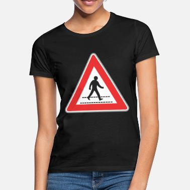 Road Sign Road sign walking man sign - Women's T-Shirt