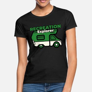 Size Van Life: Recreation Explorer funny design - Women's T-Shirt