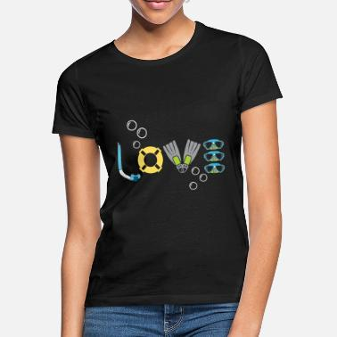 Snorkel Diver snorkel love water sports hobby - Women's T-Shirt