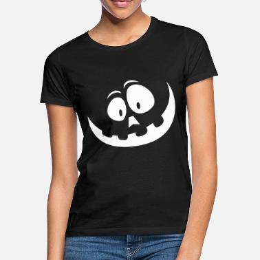 Halloween smiling pumpkin ghost - Women's T-Shirt