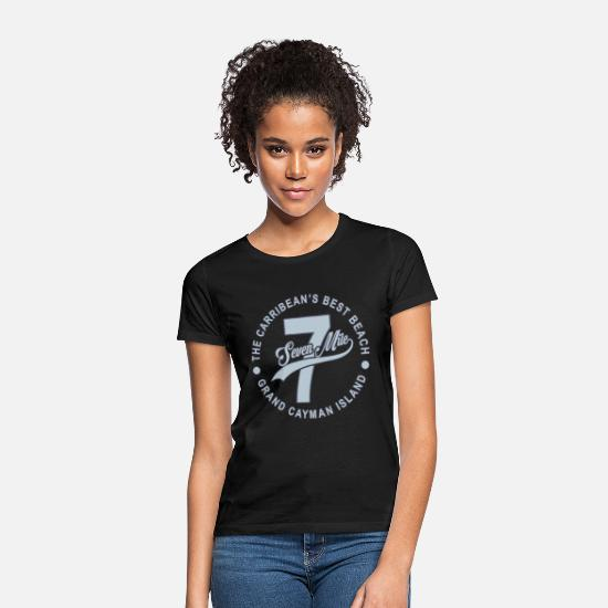 Excelent T-Shirts - Seven Mile Beach Cayman Island Caribbean Vacation - Women's T-Shirt black