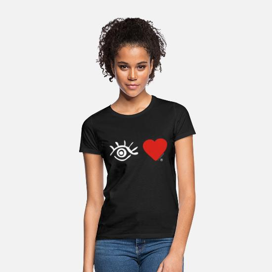 Love T-Shirts - Eye Love Logo White - Women's T-Shirt black