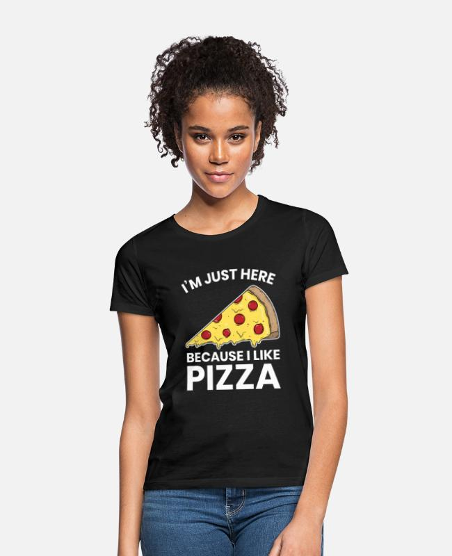 Pizza T-shirts - Jeg kan lide at spise Pizza Funny Workout Gym Cardio Gave - T-shirt dame sort