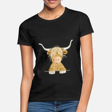 Highland Funny Scottish Highland cow cow gift - Women's T-Shirt