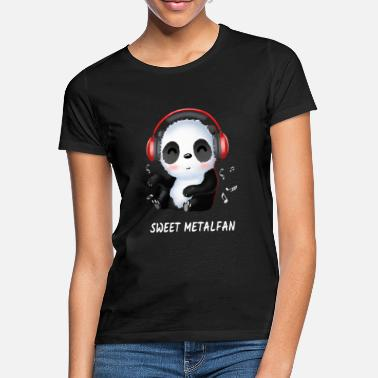 Band Panda Metal Fan Heavy Metal Metaller Geschenk - Frauen T-Shirt