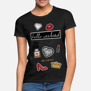 Couronne Smiley World Hello Weekend Princesse - T-shirt Femme