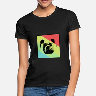 Animal Chien Bulldog, chien ou animal - chien ou animal - T-shirt Femme