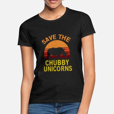 Unicorn Gem The Chubby Unicorn - T-shirt dame