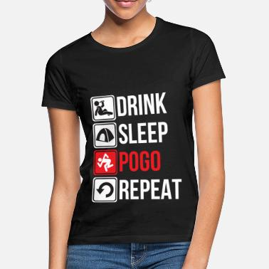 With Full Force Funny DRINK SLEEP POGO REPEAT Festival Outfit - Women's T-Shirt
