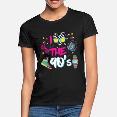 90er Jahre I Love the 90s/Neunziger/Mottoparty/Retro/Party - Frauen T-Shirt