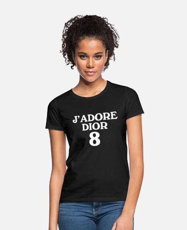 Urban T-Shirts - J'ADOREDIOR WHITE - Frauen T-Shirt Schwarz