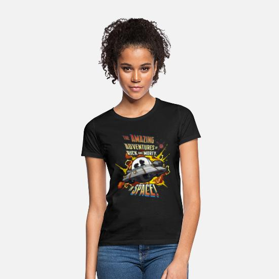 Bestsellers Q4 2018 T-Shirts - Rick and Morty Amazing Adventures in Space - Women's T-Shirt black