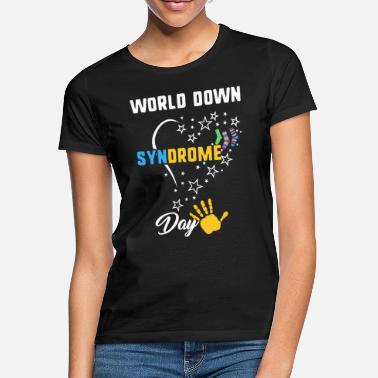 World World Down Syndrome Day Awareness Socks Down - Women's T-Shirt