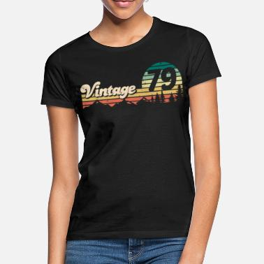 70s Vintage 1979 40th birthday gift retro bday - Women's T-Shirt