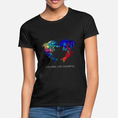 Colorful dolphins - Women's T-Shirt