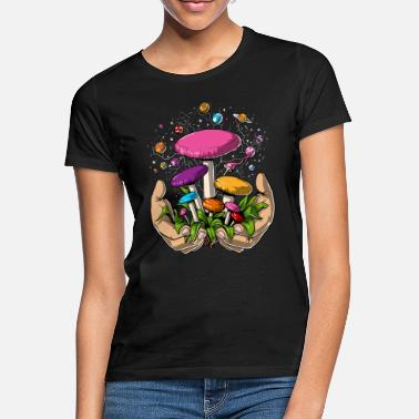Mushrooms Psychedelic Magic Mushrooms Space Planets Trip - Women's T-Shirt