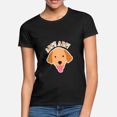 GOLDEN Retriever Glitter Donna T-shirt frase idea regalo razza proprietari CANI