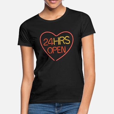 Marriage Neon: 24 HRS open heart - Women's T-Shirt