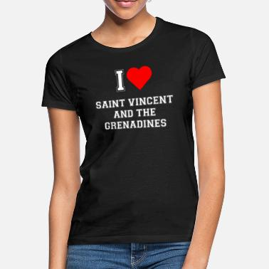 Saint Vincent And The Grenadines I love Saint Vincent and the Grenadines - Women's T-Shirt