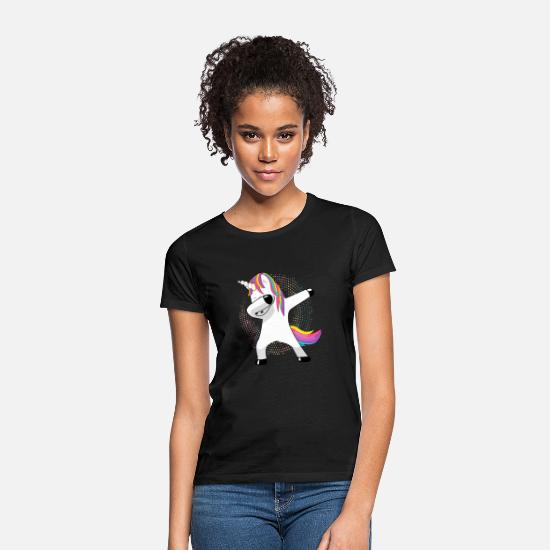 Unicorn Dame T-shirts - Duppe Unicorn morsom gave - T-shirt dame sort