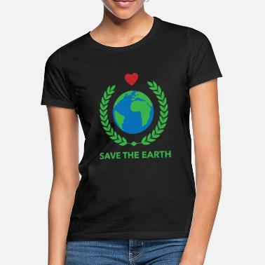 Earth Save the Earth Heart Climate Protection - Maglietta donna