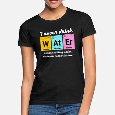 115f7ba05 Elementos Químicos Elementos de química de concentración de agua - Camiseta  mujer