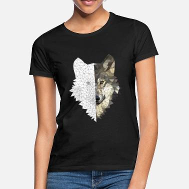Polygon Polygon Wolf Bicolor - Women's T-Shirt