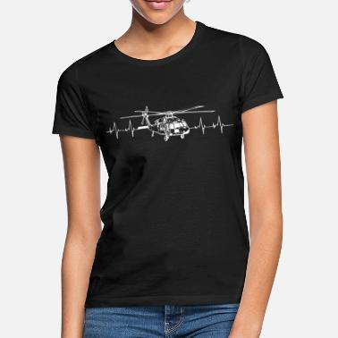 Black Hawk Hélicoptère pilote Black Hawk Heartbeat - T-shirt Femme