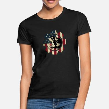 Welders USA Welder - Red, White Blue Flag - Women's T-Shirt