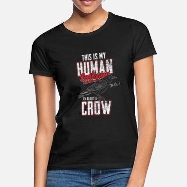 Crow Raven costume carnival halloween witch crow black - Women's T-Shirt