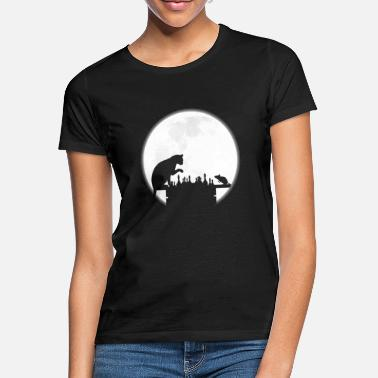 Moon The Chess Board - The Cat, The Mouse And The Full - Women's T-Shirt