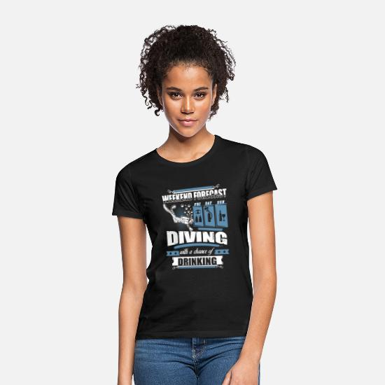 Diving T-skjorter - Weekend Forecast Scuba Diving T Shirt - T-skjorte for kvinner svart